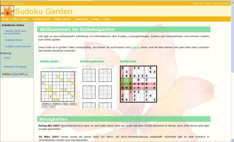 http://www.sudokugarden.de